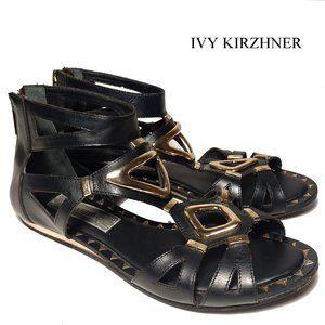 Ivy Kirzhner Brass Gladiator Sandal Sz 8M
